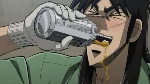 ビールを飲むカイジ