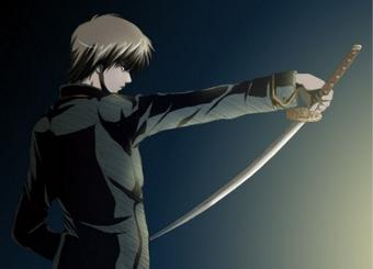 刀を構える沖田総悟