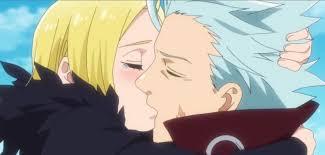 エレインとキスをするバン