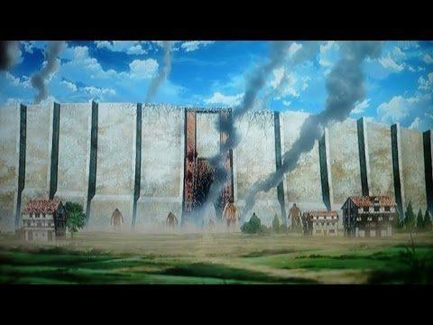 進撃の巨人の中の煙が出ている壁