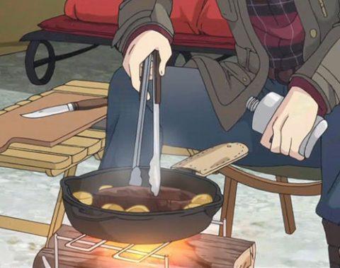 スキレットで焼く肉