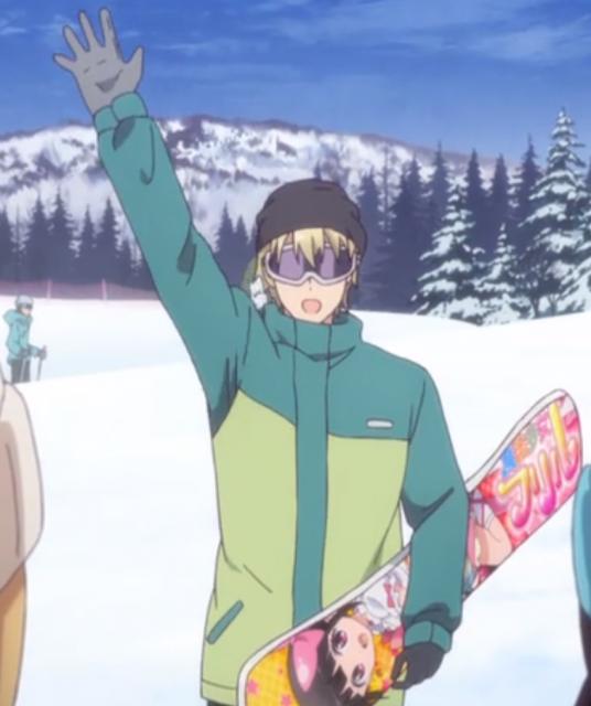 スノーボードがうまいディーノ