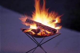 実際の焚き火台