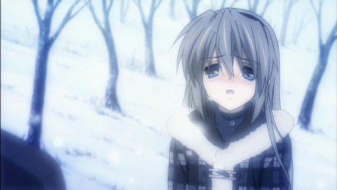 雪の仲涙ぐむ智代
