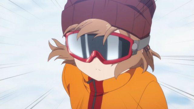 スノーボードに乗る麻冬