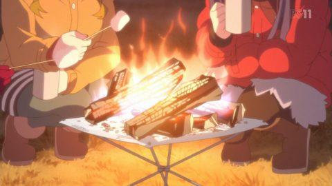 マシュマロを焼く