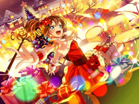 クリスマス衣装の山吹沙綾