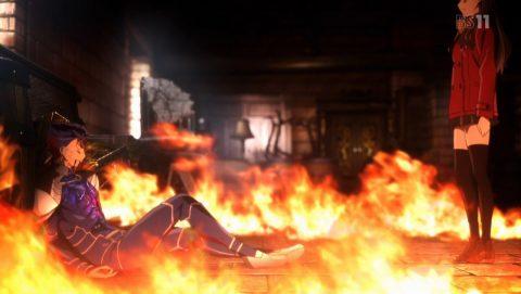 炎の中で死にゆくランサー