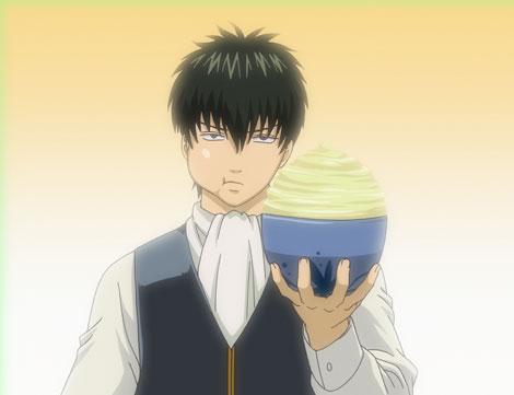 土方スペシャルを食べる土方十四郎