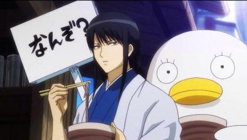 そばを食べている桂小太郎