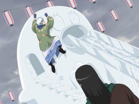 雪まつりで遊んでいる桂小太郎
