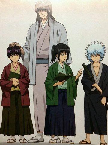 寺子屋時代の仲間といる桂小太郎