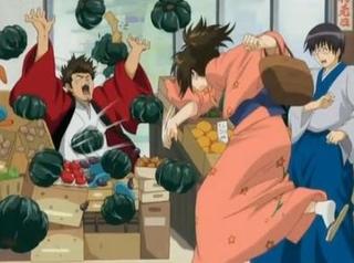 かぼちゃを投げつける志村妙