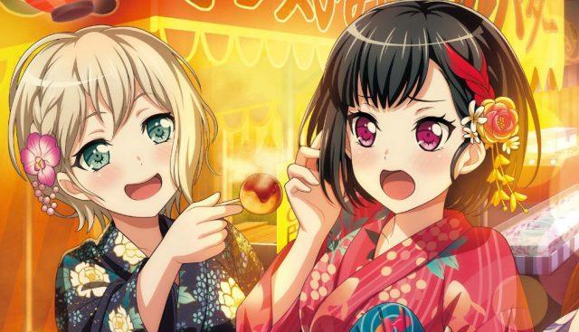 夏祭りで遊ぶ美竹蘭と青葉モカ