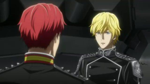 盟友からの進言を聞くラインハルト