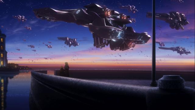 出撃する銀河帝国の艦隊