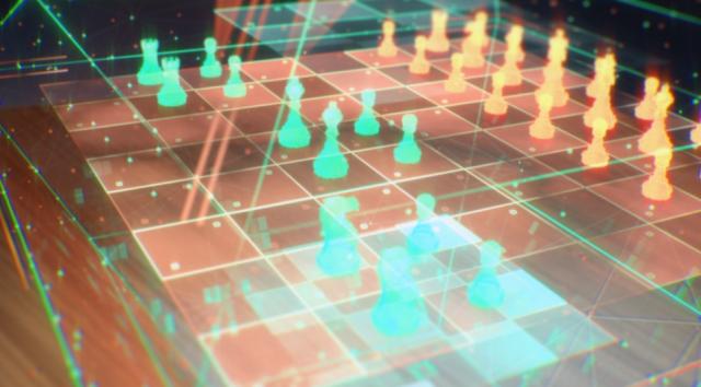 銀河英雄伝説の架空のゲームの三次元チェス
