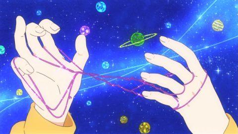 あやとりで宇宙を表現するれんげ