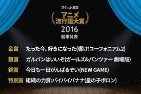 2016年アニメ流行語大賞