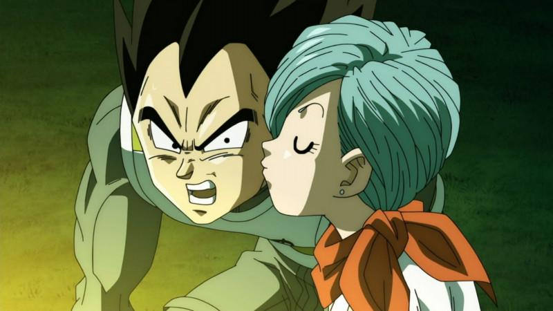 ベジータにキスするブルマ