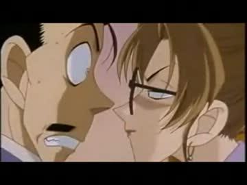 英理に睨まれて焦る小五郎