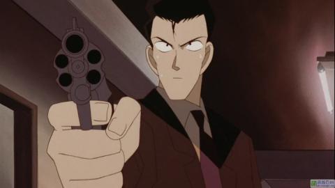 銃をかまえる小五郎