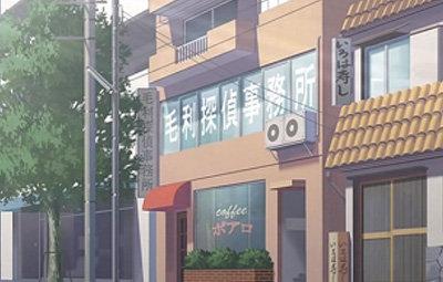 喫茶店の二階にある事務所
