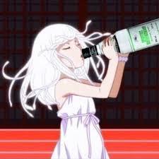 酒を呑む撫子