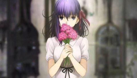 花をもつ間桐桜