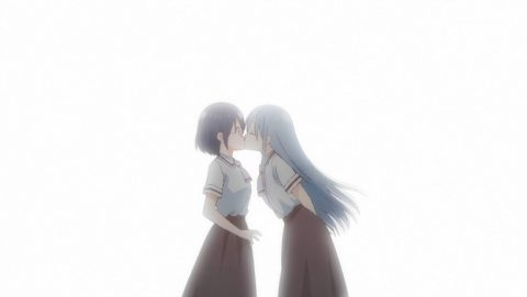 香純さんと青空さんのキス