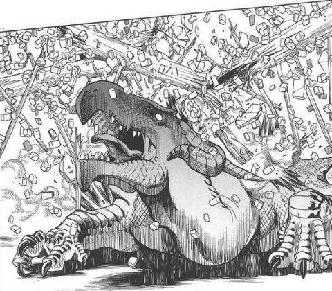 潰されるレッドドラゴン