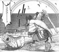 トナカイを殴るアシリパ