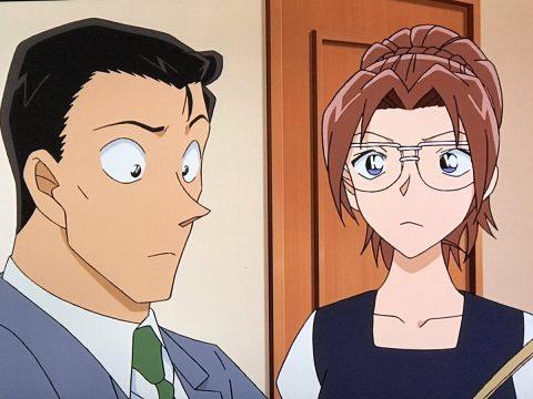若い頃の英理と小五郎