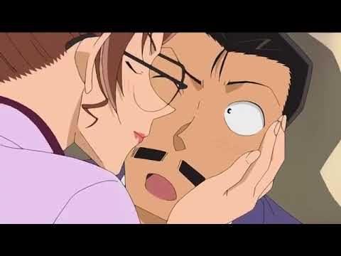 小五郎にキスをする英理
