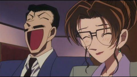 珍しく2人で笑う小五郎と英理