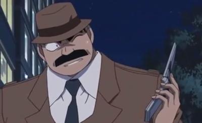 帽子を深々と被る目暮警部