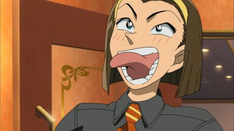 小五郎のように笑う園子