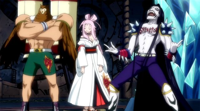 「髑髏会」の主要メンバーである三羽鴉の3人