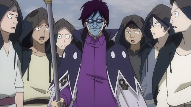 「青い髑髏」のマスターを務めるジョフリー
