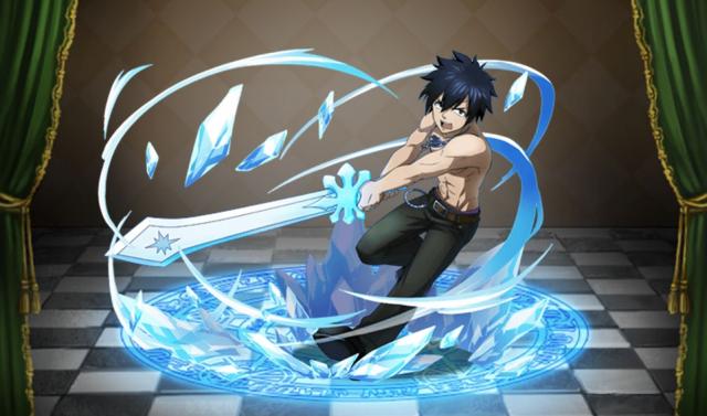 氷の剣を造形するグレイ