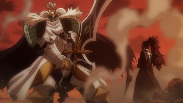 星霊王を召喚して戦うルーシィ