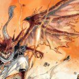 翼を生やすドラゴン