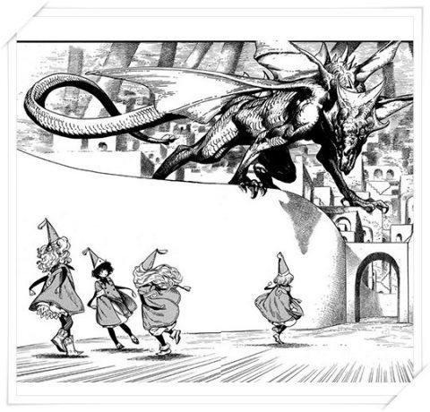 ドラゴンに遭うココたち