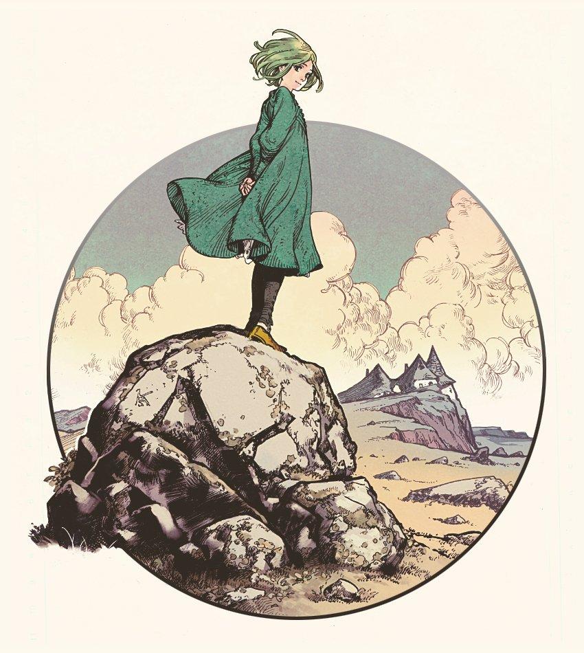 岩に立ってこちらを見るココ