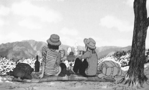 景色を眺める小松原鯉子と日々野鮎美