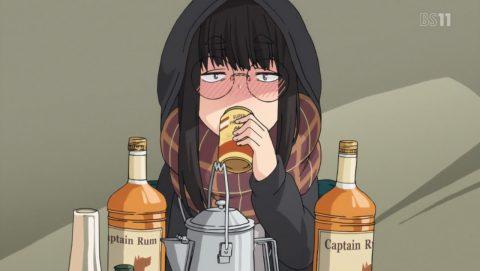 お酒を飲む鳥羽先生