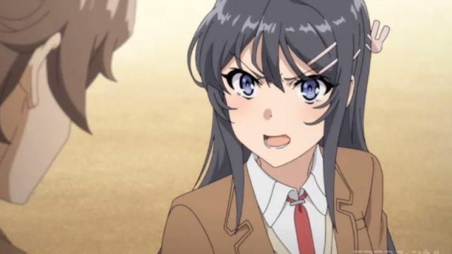 咲太を叱責する桜島麻衣
