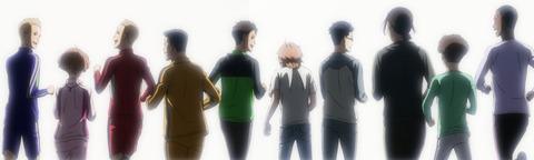 並んで走るアオタケのメンバー