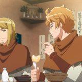 友人のニコラウスと食事するハンス