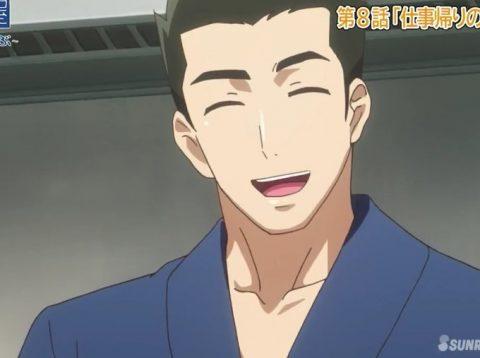 笑顔を見せる大将
